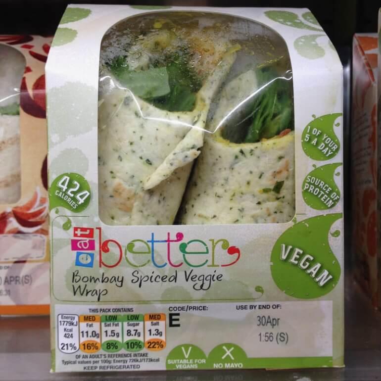 URBANeat veggie vegan wrap