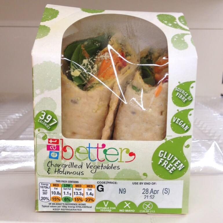 URBANeat Houmous vegetable wrap vegan