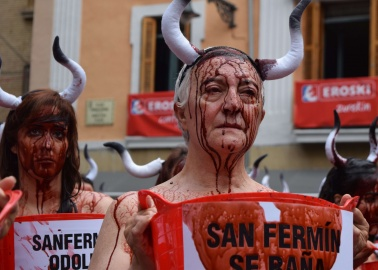 Mayor of Pamplona Voices Support for Anti-Bullfighting Protesters!