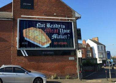 'MEAT Your Maker': New Belfast Billboard Reveals Shocking Toll of Meat on Human Health