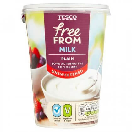 Tesco Free From Yogurt Vegan Dairy Free