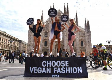 Spotted in Milan – Surprise Vegan Catwalk Pops Up in the Middle of Fashion Week