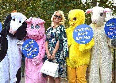 Pamela Anderson Wants You to Love Animals, Not Eat Them