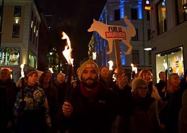 PHOTOS:  Europe's Largest-Ever Anti-Fur Protest Takes Over Oslo