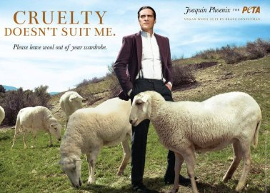Watch: Joaquin Phoenix Reacts to PETA's Wool Exposé