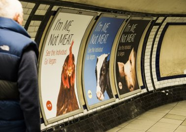 The UK's First-Ever Vegan Tube Takeover