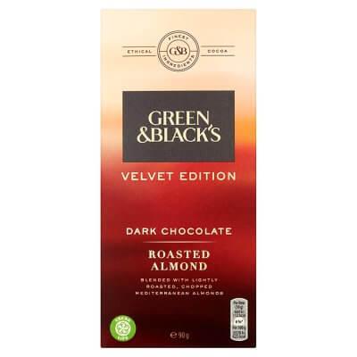 Vegan Chocolate Green and Black's Velvet Edition Dark Chocolate Roasted Almond