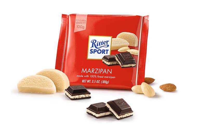 Vegan Chocolate Ritter Sport Marzipan