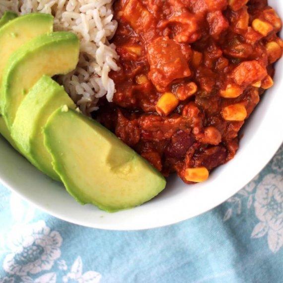Vegan Chilli: Three-Bean Vegetable Chilli