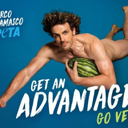Naked Mirco Bergamasco Takes Flight in Racy New PETA Ad
