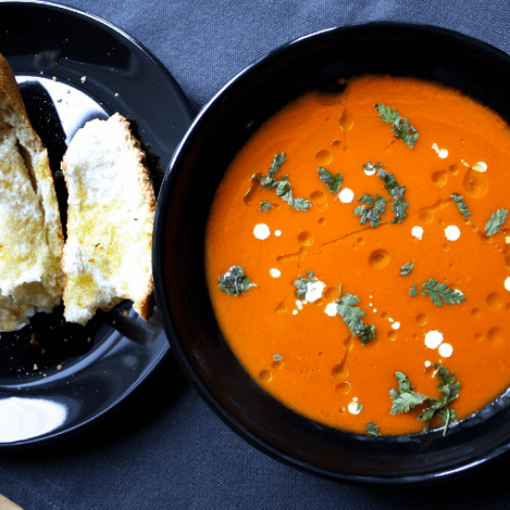 Creamy Tomato and Ginger Soup