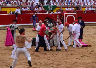 WATCH: Activists Leap Into Bullring to Protest Cruel, Barbaric Bullfights