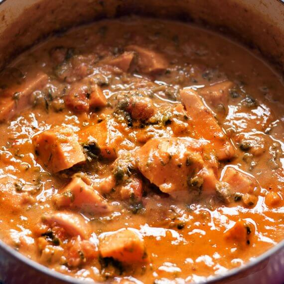 Sudanese Sweet Potato, Spinach, and Peanut Stew