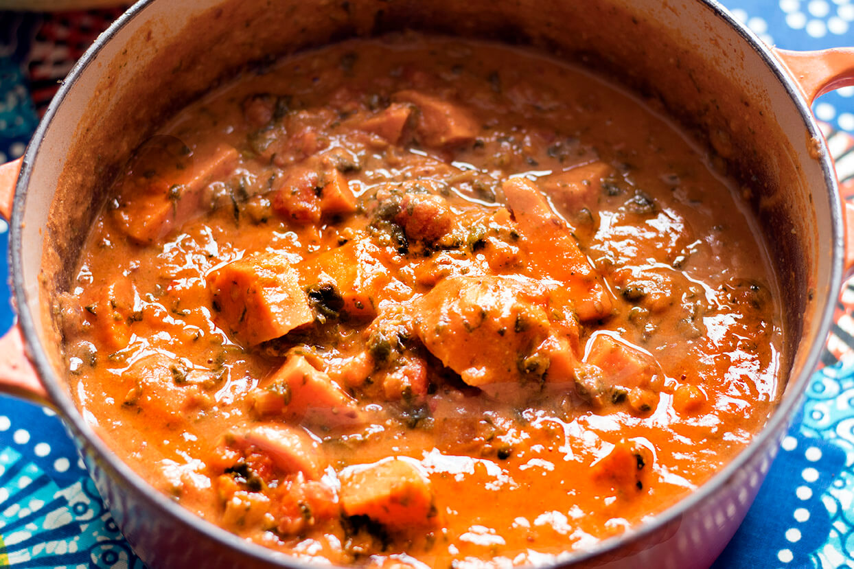 Sudanese Sweet Potato Spinach And Peanut Stew