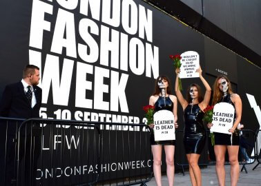 'Leather Is Dead' – Activists Crash London Fashion Week With an Important Message