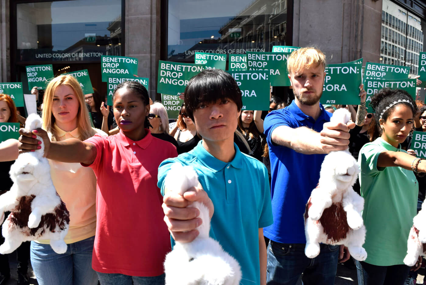Protest at Benetton