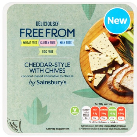 Sainsburys Deliciously Free From Cheddar-Style