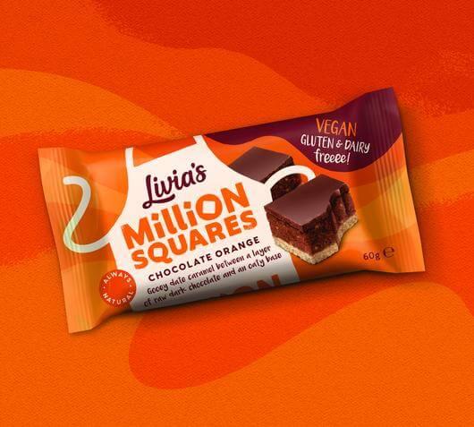 Vegan Chocolate Livia's Chocolate Orange Million Squares