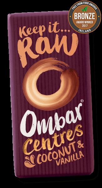 Vegan Chocolate Ombar Centres Coconut and Vanilla