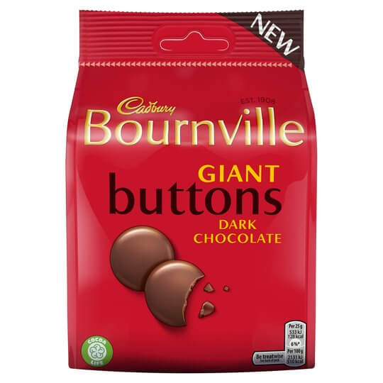 Vegan Chocolate Cadbury Bournville Buttons