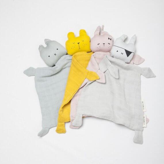 Three baby comforters