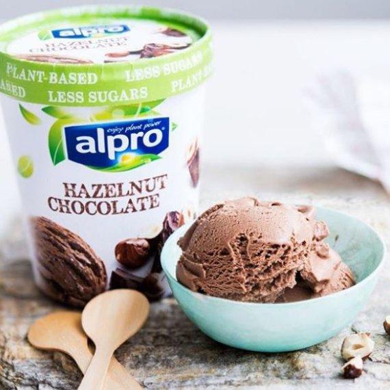 Alpro hazelnut chocolate tub