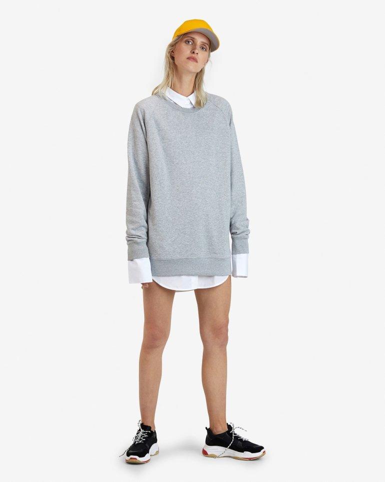 Grey wool-free sweater