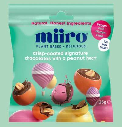 Vegan Chocolate MiiRO Crisp-Coated Signature Chocolates With a Peanut Heart