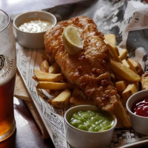 Hungry Horse Vegan Fish and Chips
