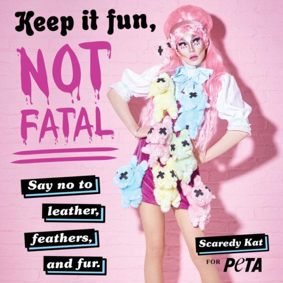 'Feline' Good: 'Drag Race' Star Scaredy Kat Keeps Paws Off Cruel Fashion