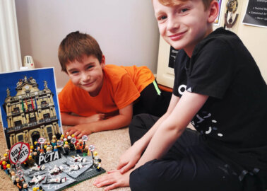 Kids Recreate 'Running of the Bulls' PETA Protest for LEGO Contest