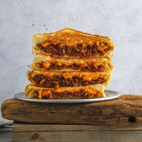 Vegan Sloppy Joe Cheese Toastie Recipe