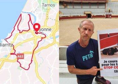 Ultra-Marathoner Runs His Message Around Famous Bullfighting Town