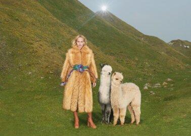 Sophia Loren Rocks Faux-Fur Coat by Stella McCartney
