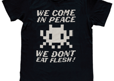 Invader X PETA: Urban Artist Designs New Vegan T-Shirt Collection