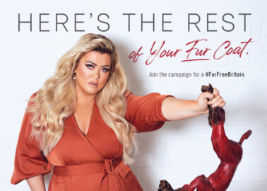 Gemma Collins Poses With 'Skinned Fox' in New PETA Campaign