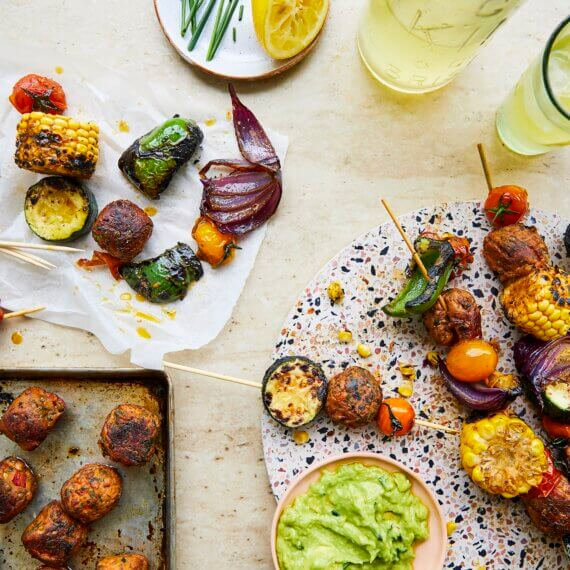 Vegan Tandoori Kebabs with Avocado Dip
