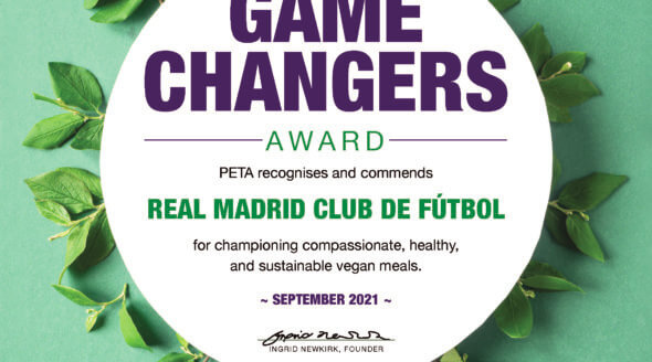 Score! PETA Game Changers Award Goes to … Real Madrid