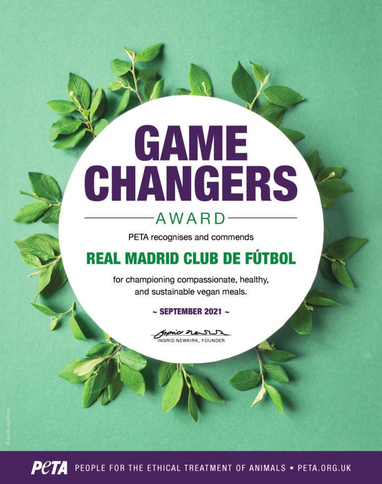 PETA Game Changers Award